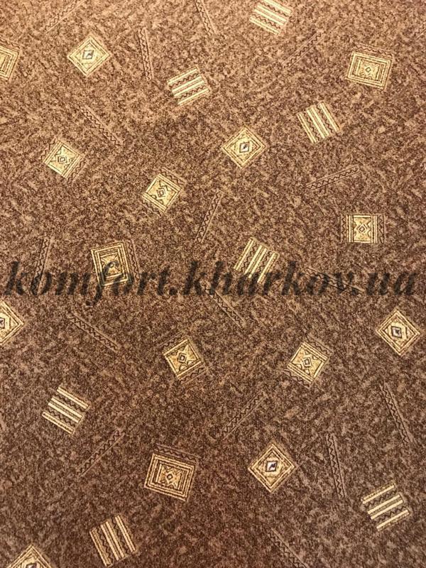 Ковровое покрытие, ковролин KRETA  42 (В) коричнев, новый