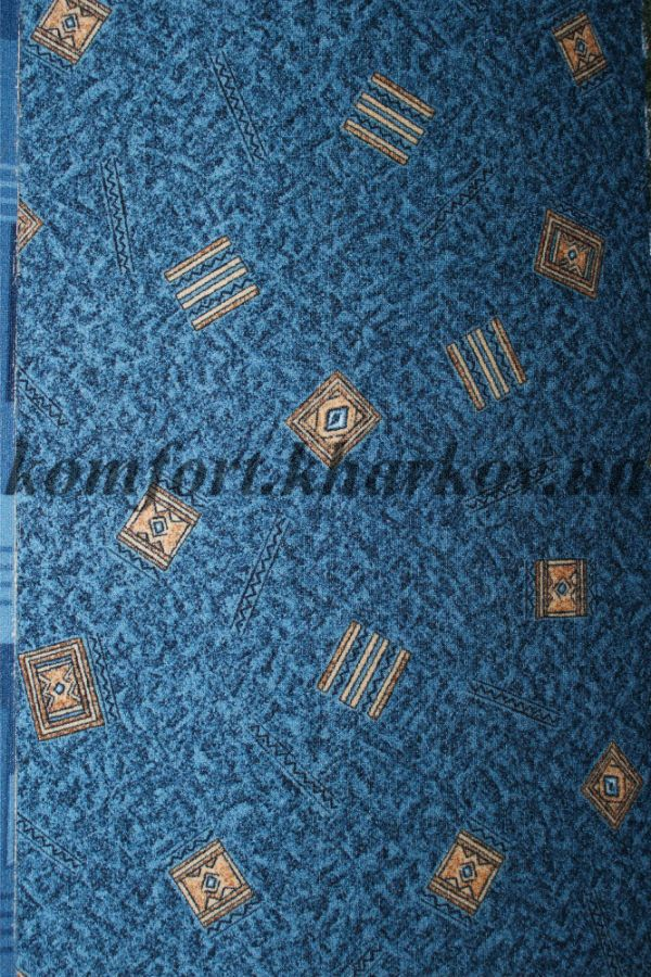 Ковровое покрытие, ковролин KRETA  77 (В) синий