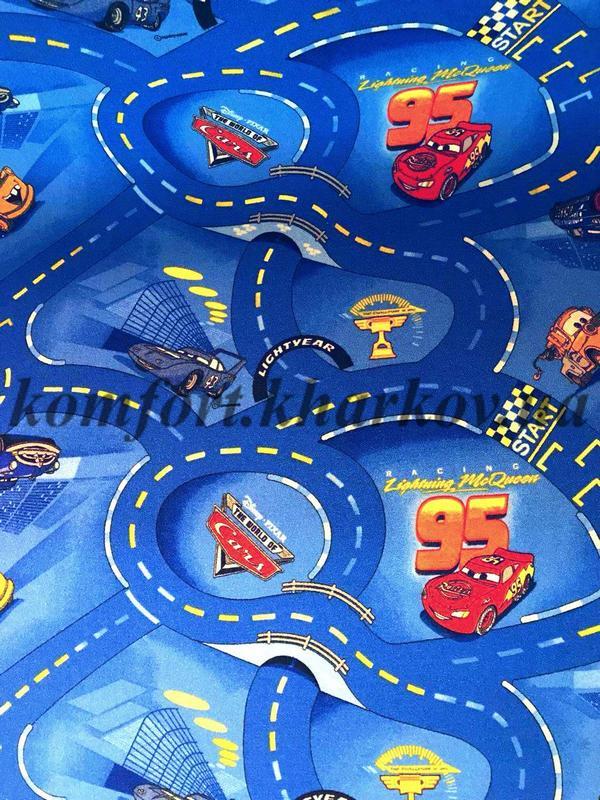 Ковровое покрытие, ковролин WORLD OF CARS 77 (В) машинки(детское)