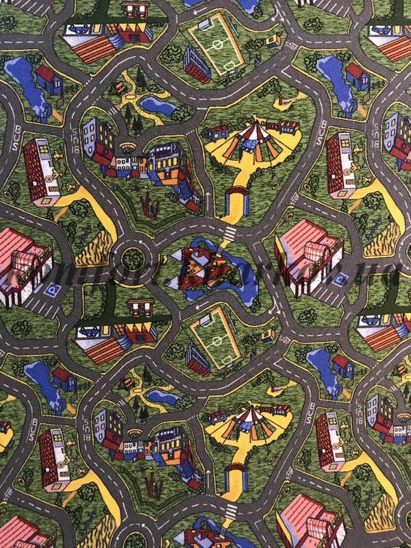 Ковровое покрытие, ковролин Р1129 51 дороги(детское)