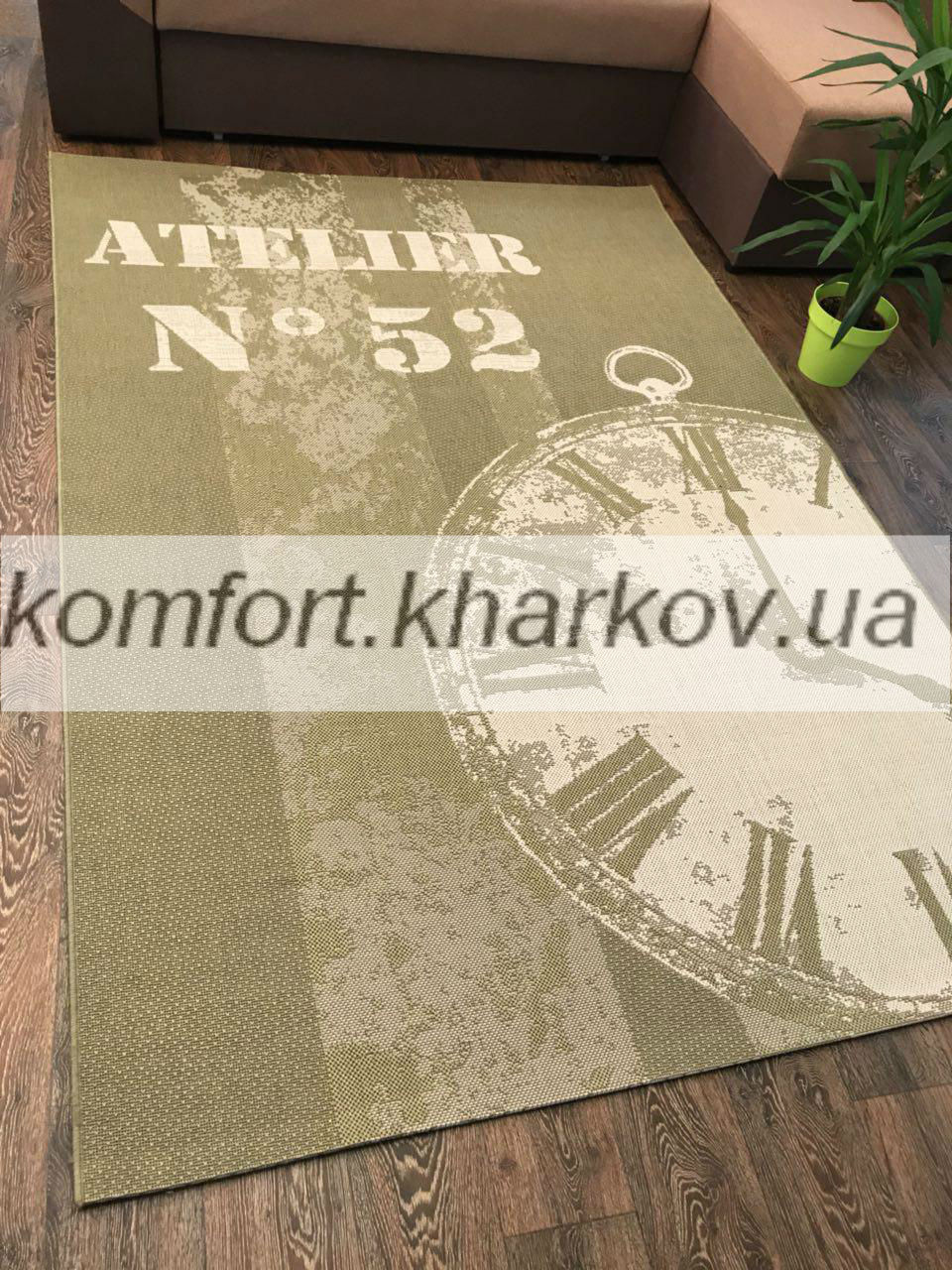 Ковер COTTAGE 4623 olive green/wool