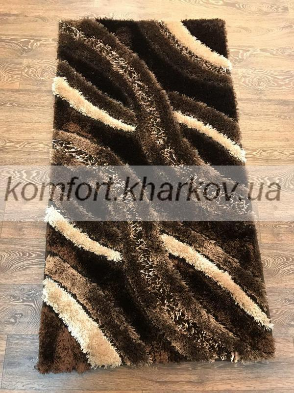Ковер POLIESTER PORTO-B652A\ DARK BROWN