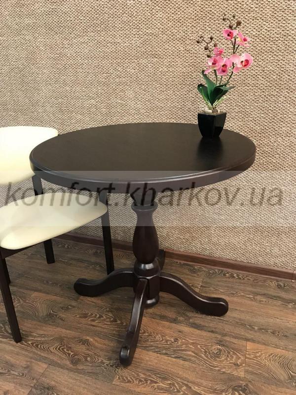Стол круглый К-1 диам.800 1ТШ (тем.орех)