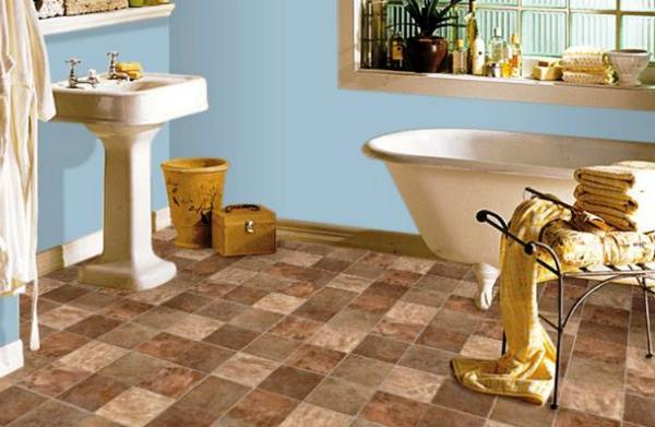 Линолеум для ванной: комфортные полы в «мокрой» зоне