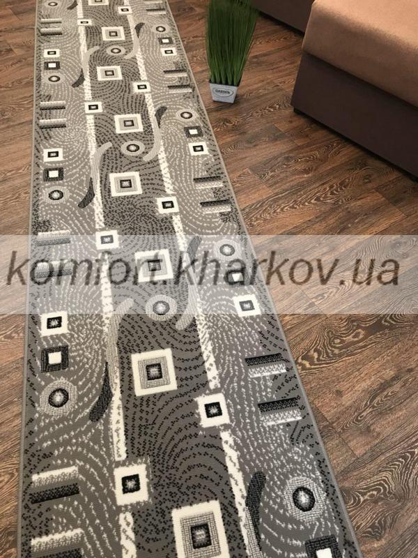 Дорожка ковровая BER 4243  214 серый