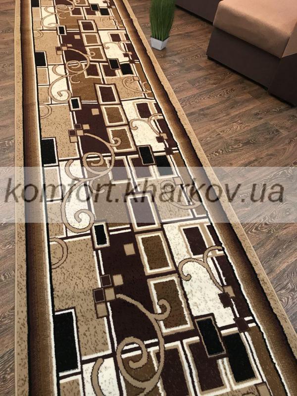 Дорожка ковровая JAZZ 6908A   KAHVE\BEJ