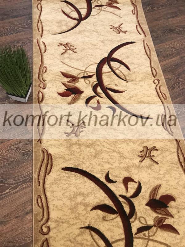 Дорожка ковровая SOFIA 1689A BORDO\BEJ