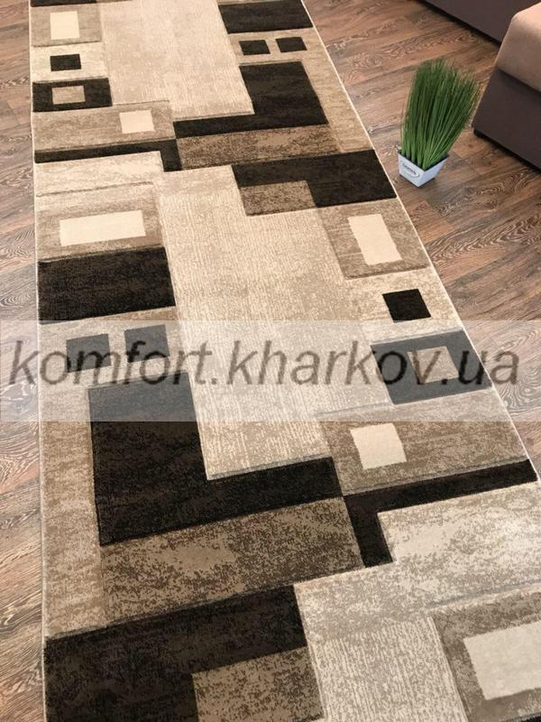 Дорожка ковровая SOFIA 8529F S,KAHVE\KREM
