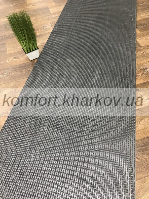 Дорожка ковровая Дорожка ПВХ  025 серый металлик
