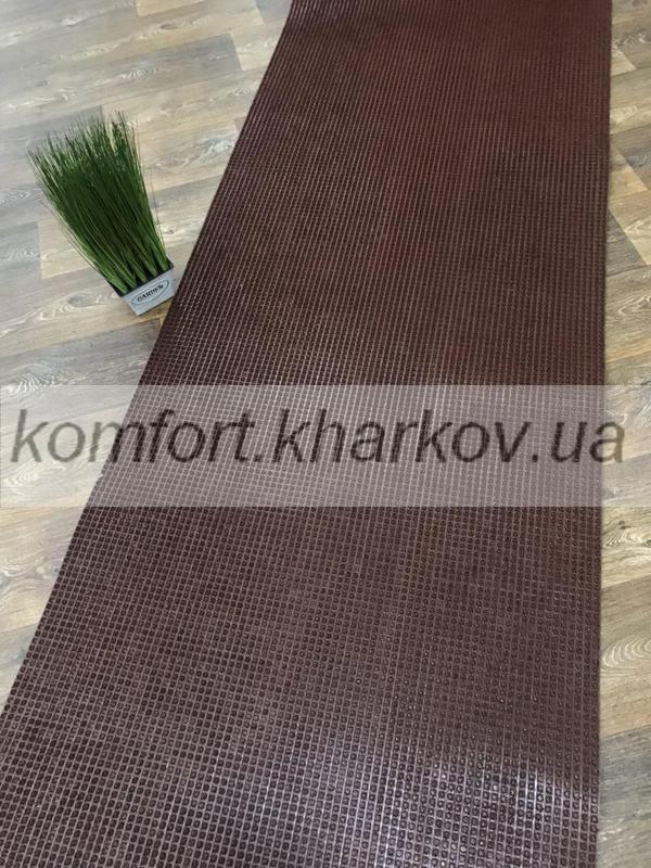 Дорожка ковровая Дорожка ПВХ 35 коричневый
