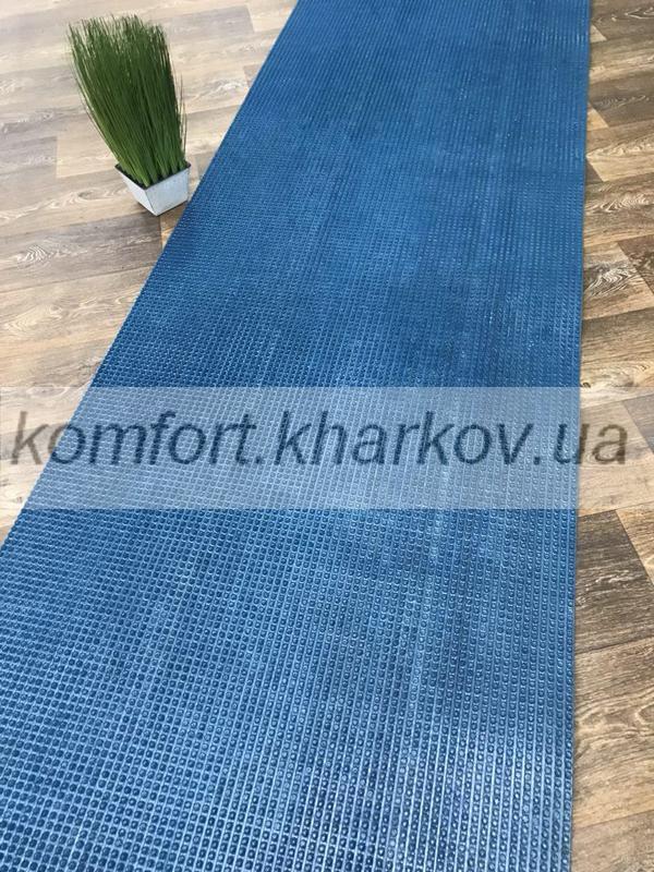 Дорожка ковровая Дорожка ПВХ 72 синий